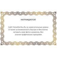 диплом Фото в рамку Вставить фото в рамку онлайн  Сертификатная или дипломная рамка с фигурным краем