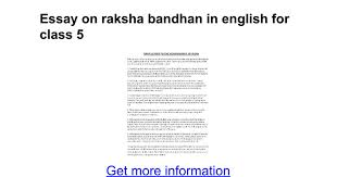 essay on raksha bandhan in english for class google docs