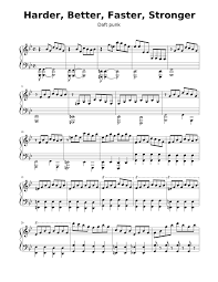 Daft Punk - Harder Better Faster Stronger Sheet music for Piano (Solo)