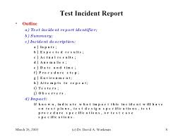 Incident Report In Software Testing Barca Fontanacountryinn Com
