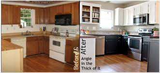 Paint Kitchen Cabinets Before And After Enchanting Kitchen Extraordinary Repaint Kitchen Cabinets Painted Kitchen