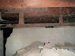 crumbling concrete foundation