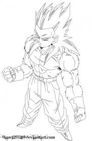 Small Picture ssj4 coloring pages