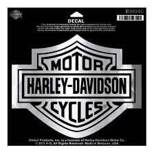 amazon com harley davidson bar shield chrome large decal large