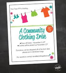 church invitation flyers clothing drive school church or organization custom flyer