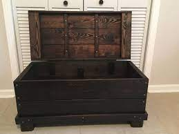 hinged wood trunk coffee table