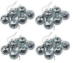 Mini Disco Ball Decorations Silver Mini Disco Mirror Ball Xmas Tree Bauble Home Party 11