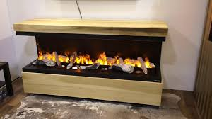 custom electric fireplace with opti myst 1000 burners by dimplex