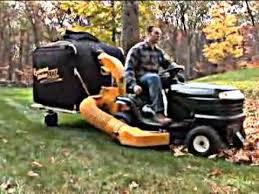 riding mower leaf vacuum.  Riding Cyclone Rake Tow Behind Leaf Vacuum Intended Riding Mower YouTube