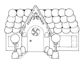 Christmas Coloring Pages Gingerbread Girl 2 With House For Kids