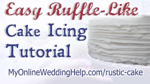 Easy Ruffle Like Wedding Cake Icing Tutorial Youtube