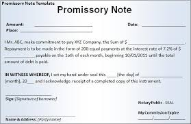 Promissory Note Template For Family Member Promissory Note Form Real Estate Forms