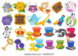 For the original book characters, click here. Alice Wonderland Characters Elements Stock Vector Royalty Free 642095137