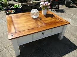 coffee refinishing table image concept pine old white mexican trunk