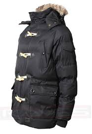 mens padded quilted parka jacket max edition faux fur hood winter coat nagano