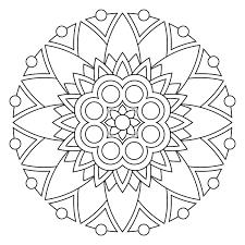 Free Printable Easy Mandala Coloring Pages Bltidm