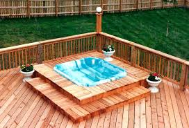 decks page self build hot tub how to a wooden base spa