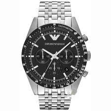 emporio armani ar5988 latest mens silver tazio chronograph watch