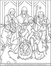 Small Picture Nativity Coloring Page TheCatholicKidcom