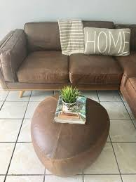 article furniture chocolate brown leather couch sofa livingroom