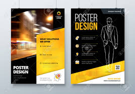 A2 Design Poster Design A3 A2 A1 Black Yellow Corporate Business Template