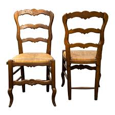 set of six custom made french oak rush seat side chairs for with ideas 3