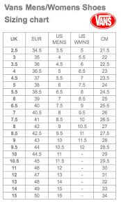 Vans Size Chart Inches Size Chart Vans Japan Bedowntowndaytona Com