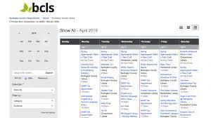 Bcls Bcls Online Calendar