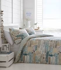 nautical theme bedroom driftwood king size duvet set seahorse sea s beach