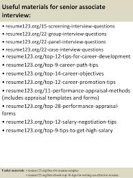 Top 8 senior associate resume samples