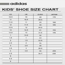 Organized Adidas Junior Size Chart 2019
