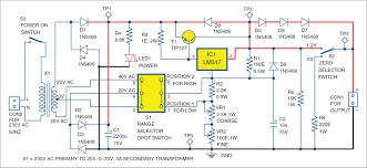 Power Supply Design Using Lm317 0 50v Variable Power Supply Using Lm317 Electronics For