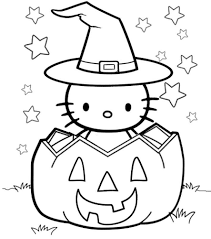 Hello kitty halloween witch on broom. Hello Kitty Halloween Coloring Pages Best Coloring Pages For Kids