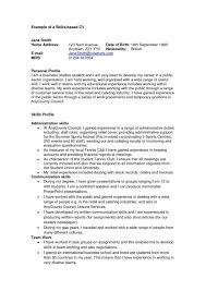 examples of skills skills profile resume examples rome fontanacountryinn com