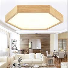 modern minimalist wood led ceiling lights hexagon flush mount ceiling lights recessed lighting fixtures led indoor lamp fixtures modern minimalist wood led