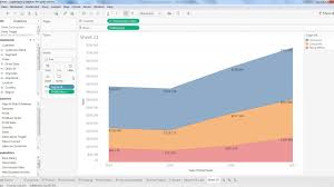 Tableau Overlapping Area Chart Tableau Tutorial 22 How To Create Area Chart In Tableau Tableau Area Chart