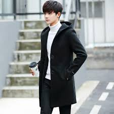 hombre peacoat fashion casaco masculino inverno and jacket long men