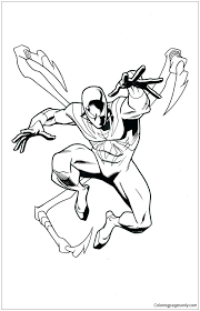 Peter parker, a child and a truck. Iron Spiderman Coloring Page Free Coloring Pages Online
