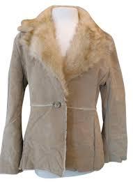new york company beige leather jacket image 0