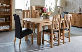 parker extending dining table u0026 set of 4 slat back chairs oak images dining tables i3 images
