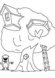 Tree House 20 Buildings And Architecture Printable Coloring Pages