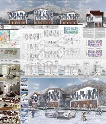 Дипломный проект Архитектура и проектирование Архитектурные  Апарт отель туристического комплекса Мамисон в Северной Осетии Алании МГСУ