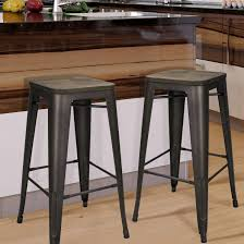 kitchen high chairs. Large Size Of Chair Metal Bar Chairs Adeco Bronze Inch Stools Set Counter Black Short Kitchen High