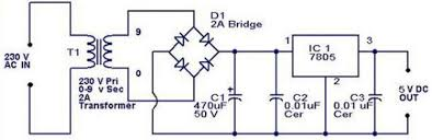 simple 5 volt power supply circuits and diagrams electronic circuit 5 volt power supply