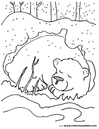 Free Printable Coloring Pages Hibernating Animals L