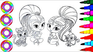 drawings to color. Contemporary Color Coloring Drawings Shimmer And Shine With Their Rainbow Sparkle Pets  Pages L How To Color On To