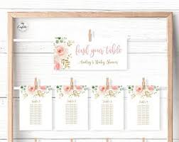 Table Numbers 1 30 Blush Pink Floral Printable Table Etsy
