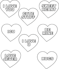 valentine hearts coloring pages. Exellent Hearts Valentines Day Heart Coloring Pages Pin Country Graphics On  Conversation Hearts In Valentine Hearts Coloring Pages