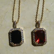 hip hop jewelry gold chain ruby pendant designs for men mjcp008