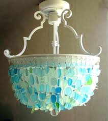 sea glass light fixture light sea glass ceiling light beach themed chandeliers chandelier lighting fixture flush mount coastal crystal sea glass bathroom